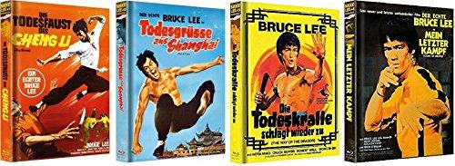 Bruce Lee [Mediabook Set] Auf 500 limitiert / Die Todesfaust des Cheng Li + Todesgrüße aus Shanghai + Die Todeskralle schlägt wieder zu + Mein letzter Kampf