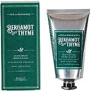 Pre de Provence Men's Shave Cream, Enriched With Natural & Repairing Shea Butter (2.5 fl oz) - Bergamot & Thyme