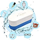 Ultrasonic Jewelry Cleaner Machine, Mini Cleaning Machine, Multifunctional Automatic Ultrasonic Peeps Glasses Cleaner for Contact Lenses Eyeglasses Watches, Rings, Necklaces, Coins, Dentures