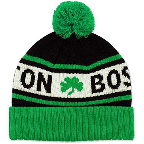 Chowdaheadz Boston Shamrock Old School Knit Winter Hat