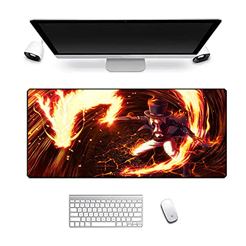 XXL Speed Gaming Mouse Pad XXL Mousepad Table Mat Large Size Improved Precision and Speed Rubber Base for Smooth Surfaces Non-slip Anime One Piece 900X400X3Mm