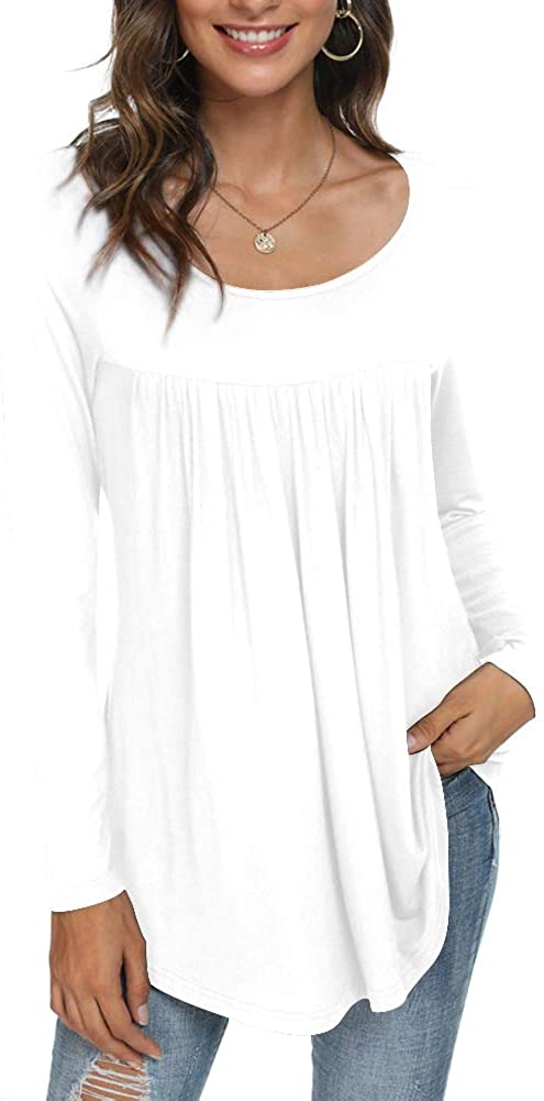 CATHY Women's Casual Long Sleeve Ruffle T sold out Tops Loose Shirt All items in the store Tunic