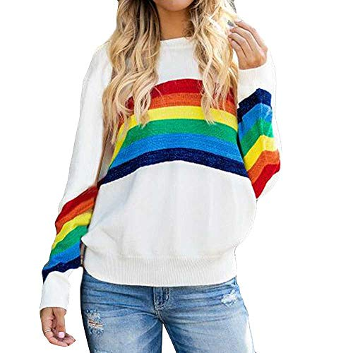 80s Rainbow Sweatshirt for Women, Choice of Colours, M to 5XL
