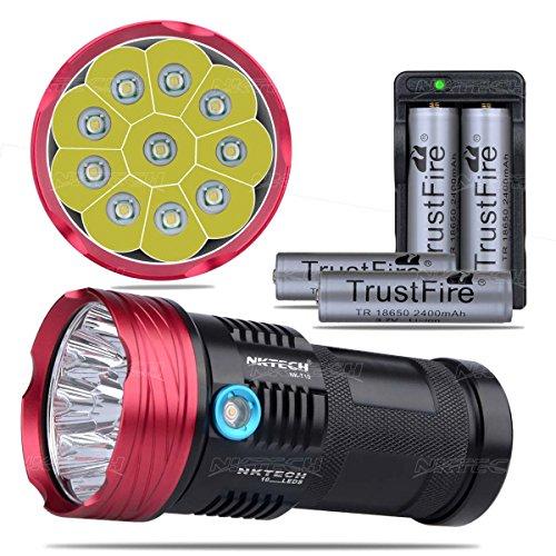 NKTECH Super brillante NK-T10 10x T6 LED linterna de 3 modos para...