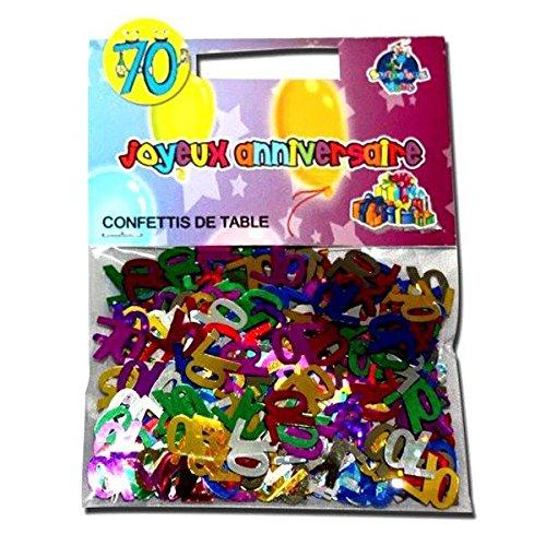 CONFETTIS DE TABLE 70 ANS
