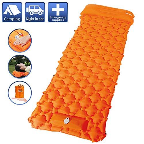 Volador Campingmatte, Nähbare Selbstaufblasbare Schlafmatte mit Kissen, Ultraleichte wasserdichte und Feuchtigkeitsbeständige Robuste Luftmatratze, Tragbare Luftschlafunterlage