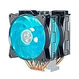 Cooler Master MasterAir MA620P RGB Twin Tower CPU Air Cooler w/ 6 Continuous Direct Contact 2.0 Heatpipes, Aluminum Fins, Push-Pull, Dual MF120R 120mm RGB Fans, Intel LGA1151, AMD AM4/Ryzen