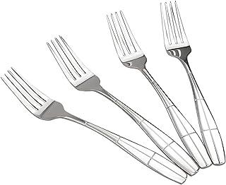 comprar comparacion Ikando - Tenedor Tenedores de Mesa (12 Unidades, Acero Inoxidable)