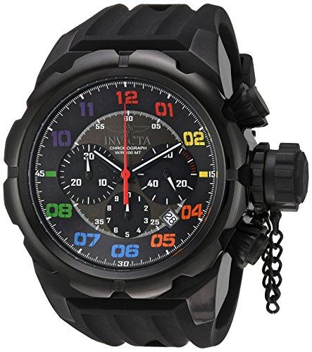 Invicta Herren Russian Diver Quarz Edelstahl und Silikon Casual Armbanduhr, Farbe: Schwarz (Modell: 22421)