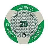 Juego - Fichas de Poker Valor 25, Tournament, Color Verde (ITA Toys JU00127)