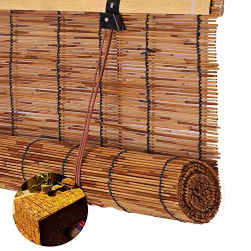 Fvfk Bambusrollos - Lamellenrollos - Vintage-Strohvorhänge, wasserdichte Und Feuchtigkeitsbeständige Trennwände, Sonnenschutz - Wärmedämmvorhänge, Sondergrößen