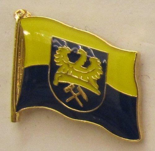 Pin Anstecker Flagge Fahne Oberschlesien Ober Schlesien Flaggenpin Badge Button Flaggen Clip Anstecknadel