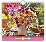 Trötsch Notizkalender Querformat klein Blumen 2022: Wandkalender mit Stift: mit Postkarten und Sprüchen