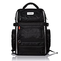 """Removable break-away laptop pack (2-in-1) Waterproof Sharkskin shell with industrial rubber sole and piping (PVC-free) Laptop compartment with restraint strap (fits 12""""-17"""") Double thick bottom padding eliminates dings. Specialized front pockets for ..."""