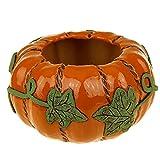 Succulent Planter Orange Pumpkin Ceramic...