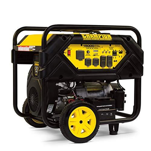 Champion Power Equipment 100111 15,000/12,000-Watt Portable Generator with Electric Start and Lift Hook