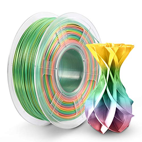 PLA Silk Rainbow Filament 1.75mm PLA 3D Printer Rainbow Filament 1KG Shiny Multicolored Silk Rainbow