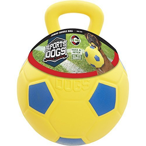 Sports Dog Jumbo Blue And Yellow Soccer Ball Dog Toy