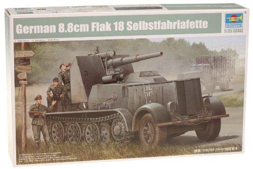 Trumpeter Modellino Carro Armato - Flak 18 88mm Selbstfahrlafette Scala 1:35 (TRU01585)