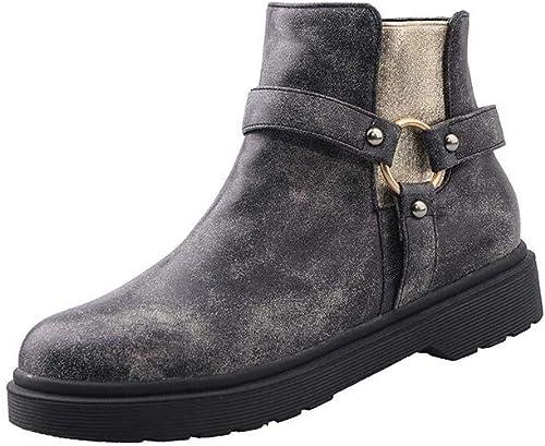 XIIN Chaussures à Talon compensé pour Femmes Chaussures de Travail Formelles