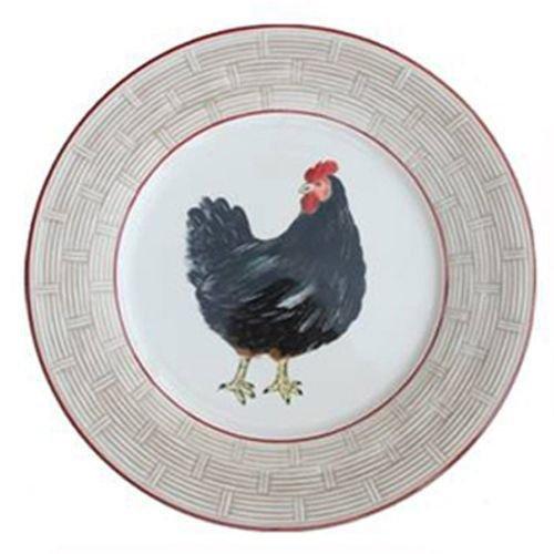 Faïencerie de Niderviller ~ Assiette Plate Ronde Bocage faïence - Lot de 4