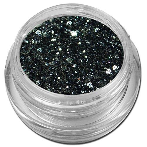 Glamour Mix Glitter Glitzer Silber Puder Schwarz Nailart