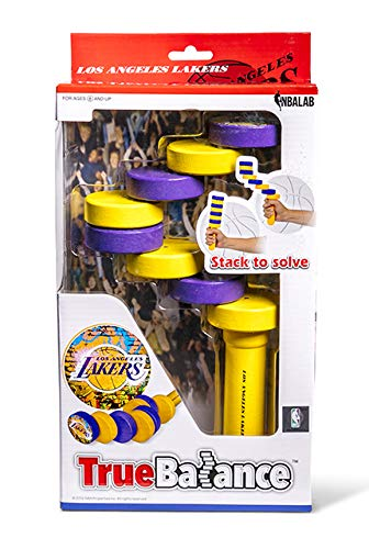 TrueBalance NBA Coordination Game Balance Toy for Adults and Kids | Improves Fine Motor Skills | Los Angeles Lakers | Perfect STEM Toy for Focus & Concentration