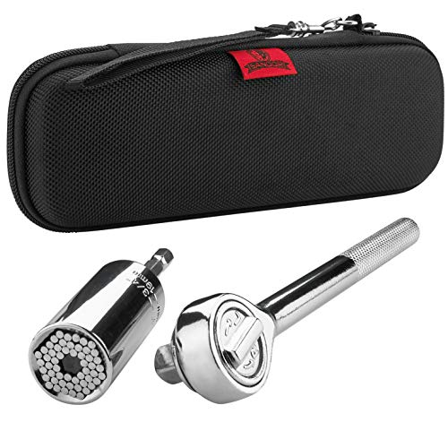"""Universal Socket Tool Set - 1/4""""-3/4"""" (7-19mm) 3pcs Multi-Function Ratchet Wrench with Impact Driver Power Drill Adapter and Stronger Hex Pins, DIY Handyman Tools, Best Gift for Men by SANDOR Tool"""