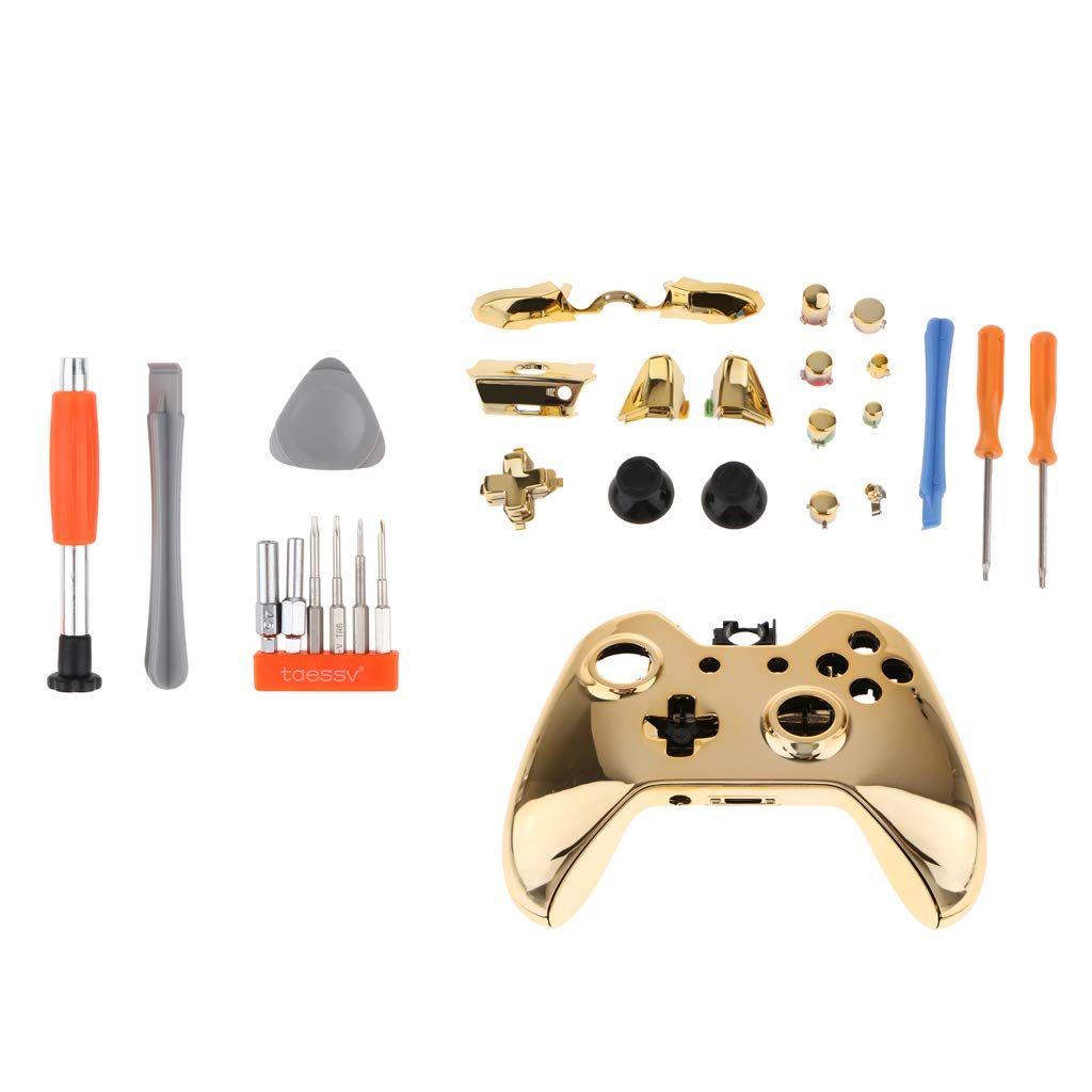 Amazon.es: SDENSHI Para Microsoft Xbox One Accesorio Kit Funda Funda Juego De Botones Y Kit De Destornillador
