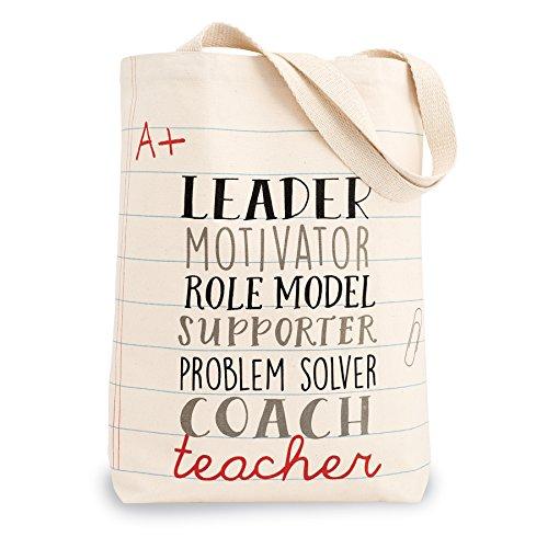 Mud Pie 4035006L Leader Teacher Canvas Tote