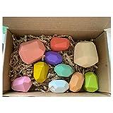 Yanhonin Juguetes para bebé, 10 piezas de madera de colores, apilables, ordenar y apilar, regalo para niños