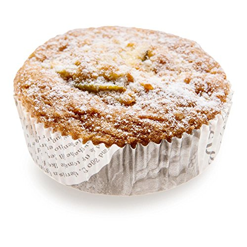 Panificio Premium 3.2-inch Baking Cups, 4 oz: Regular-Ridged Round Paper Baking Cups Perfect for Muffins, Cupcakes or Mini Snacks - Black and White Press Print Design - Recyclable - 200-CT