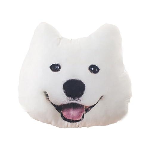 Moolecole Cartoon Pillow Creative Dog Shaped Pillow Cute Cushions Bolster Nap Pillow Samoye