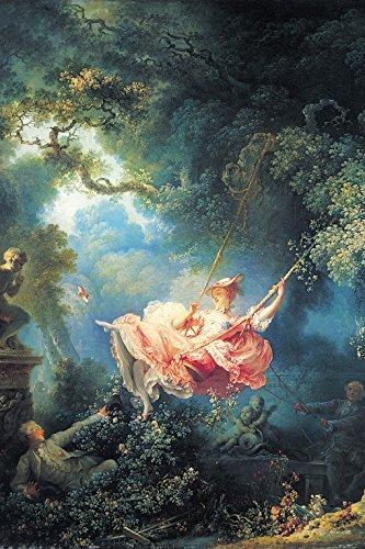 1art1 Jean-Honoré Fragonard - Die Glücklichen Zufälle Der Schaukel, 1767 Selbstklebende Fototapete Poster-Tapete 180 x 120 cm