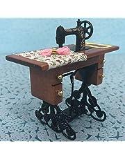 Maszyna do szycia dla lalek, 1:12 maszyna do szycia materiał wysokiej jakości meble do domku dla lalek akcesoria do domku dla lalek, wykwintne wykonanie dziewczyna na meble do domku dla
