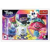 Trefl Puzzle El Mundo Musical de los Trolls (24 Piezas, Universal), Trolls World Tour para niños a Partir de 3 años