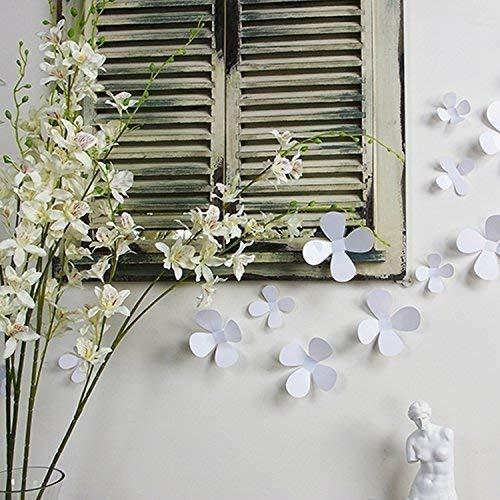 Walplus(TM) 3D Pure White Flowers Home Interior Decoration Wall Sticker