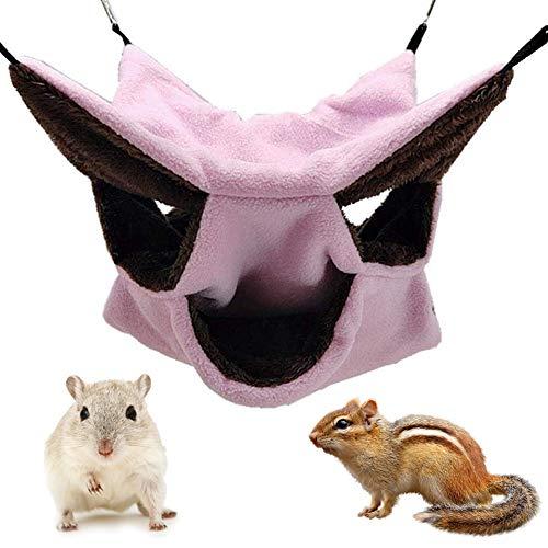 Hamaca Pequeña para Mascotas, NALCY Hamster Hamaca de Triple Capa, Hamaca Pequeña para Mascotas, Doble Capa, Jaula para Hámster Accesorios, para Chinchilla Loro o Azúcar, Deslizador, Hurones, Rata