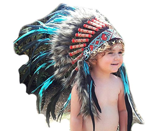 From 2-5 years Kid//Childs: Pink Feather Headdress 20,5 inch K25 52 cm K25-A001