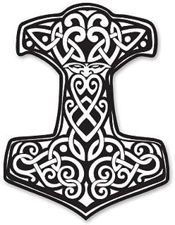 Thor's Hammer Viking Norse Ornament Vinyl Sticker - SELECT SIZE
