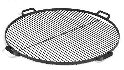 JS GartenDeko Grillrost mit 4 Griffen aus Rohstahl Ø 80 cm Rost für Feuerschalen Grillgitter rund Grillen CookKing