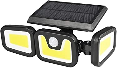 LEESANRAN LED Solar Security Light Outdoor, Motion Sensor Wall Light, 5000K Waterproof/Rainproof Flood Light,1 Pack