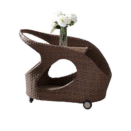Nikki Garden maleta con ruedas de la mesa de palma