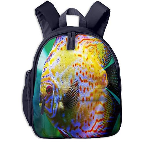 Kinderrucksack Kleinkind Jungen Mädchen Kindergartentasche Diskusfisch Aquarium Backpack Schultasche Rucksack