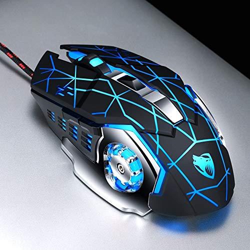 weichuang Ergonomische Gaming-Maus, kabelgebunden, professionelle Gaming-Maus, 6 Tasten, 3200 dpi,...
