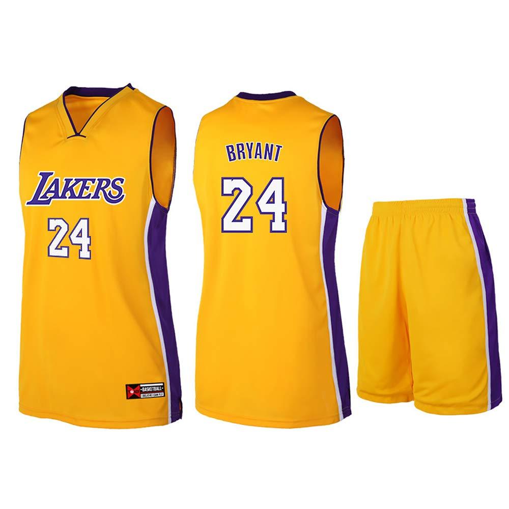 Camiseta de baloncesto Lakers Lebron James Kobe Bryant Fans de la NBA para niños y adolescentes adultos, kobe-yellow, 2XL(170-175CM): Amazon.es: Deportes y aire libre
