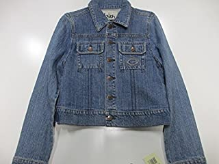 4e06f93f7 Touch by Alyssa Milano Green Bay Packers Womens Medium Button Front Denim  Jacket APAC 101 M