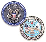 Army Veteran Challenge Coin - US Army Military Collectible Challenge Coin -...