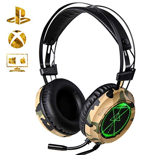 Cuffie Gaming per PS4, XTRIKE Cuffie da Gioco Stereo Bass Profondo Cuffie Gaming con Microfono Cancellazione del Rumore per PS4/Xbox One/PC/Switch/Tablet