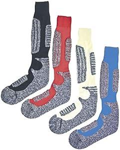 Calcetines Medias Pur de esquí con lana de oveja. Ajuste óptimo. Pack de 2 vaquero 39